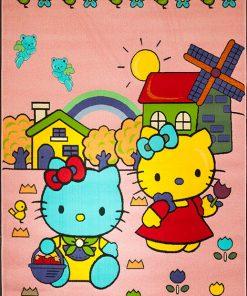 فرش ماشینی هلو کیتی افرند - 1013 - Hello Kitty Carpet