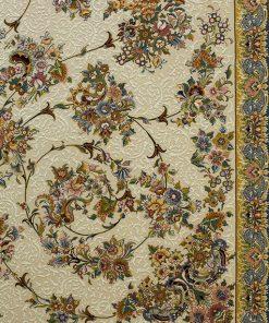 فرش کلاسیک افرند طرح گلفام - زمینه کرم