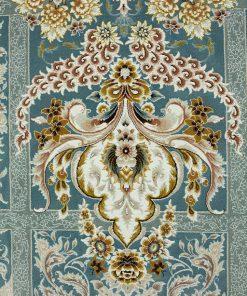 فرش ماشینی افرند طرح لاله - زمینه آبی
