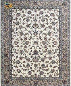 فرش ماشینی افرند زمینه کرم- کد 24300