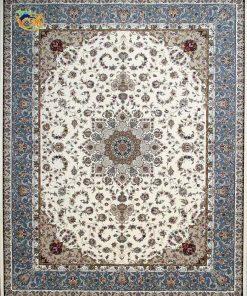 فرش ماشینی افرند زمینه کرم - کد 24100