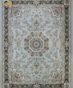 فرش ماشینی افرند 1500شانه کد 55014 زمینه کرم