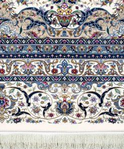 فرش ماشینی دستباف نما افرند 1250شانه زمینه کرم