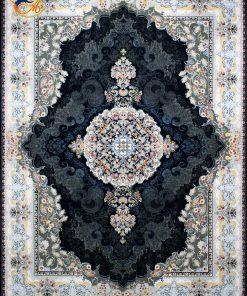 فرش ماشینی افرند 1200 شانه کد 2247 زمینه سرمه ای
