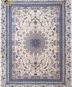فرش ماشینی افرند دستباف نما 1250 شانه کد 24700 زمینه کرم