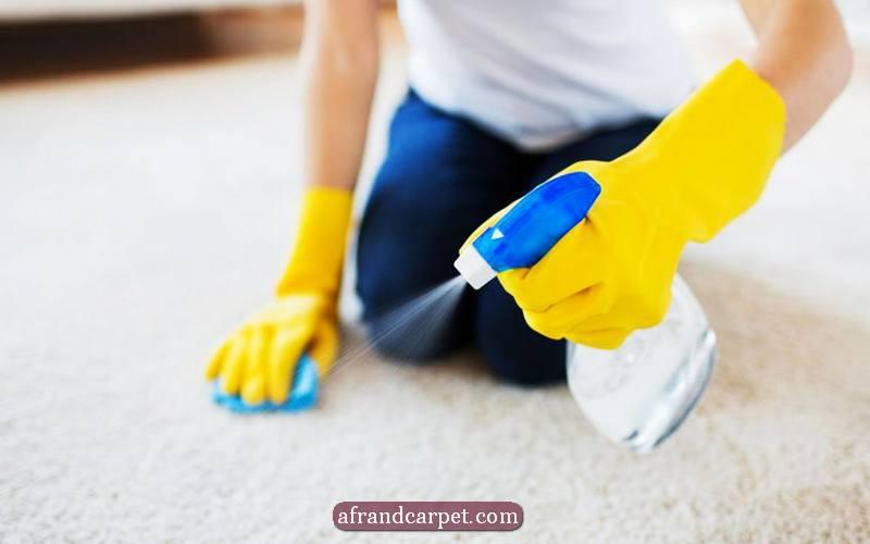 از بین بردن لکه فرش