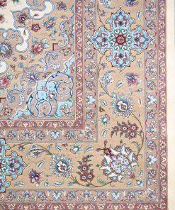 فرش ماشینی دستباف نما افرند زمینه موزی