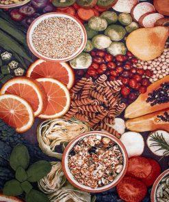 فرش آشپزخانه افرند طرح میوه