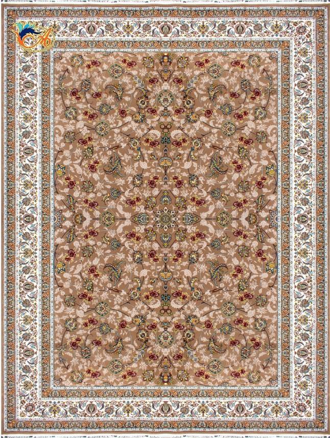 فرش ماشینی افرند 700شانه زمینه شکلاتی کد 7759