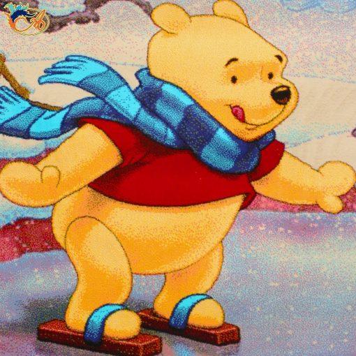 فرش ماشینی کودک افرند 500شانه مدل خرس پو کد 121