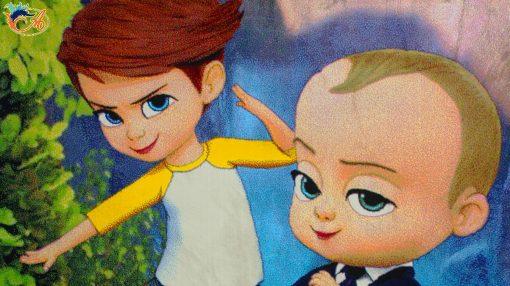 فرش ماشینی کودک افرند 500شانه مدل بچه رئیس کد 154