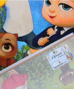 فرش کودک افرند مدل بچه رئیس کد 154