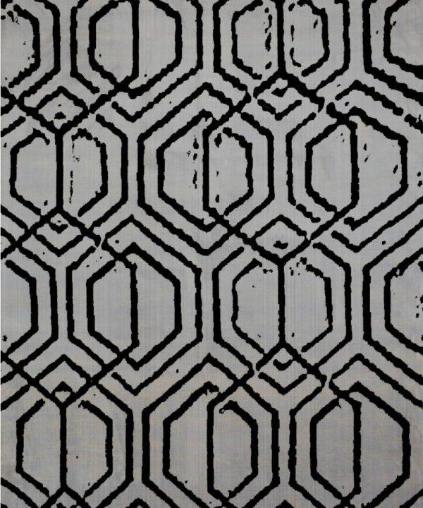 فرش ماشینی افرند 500 شانه گل برجسته طرح مراكشي کد 6631