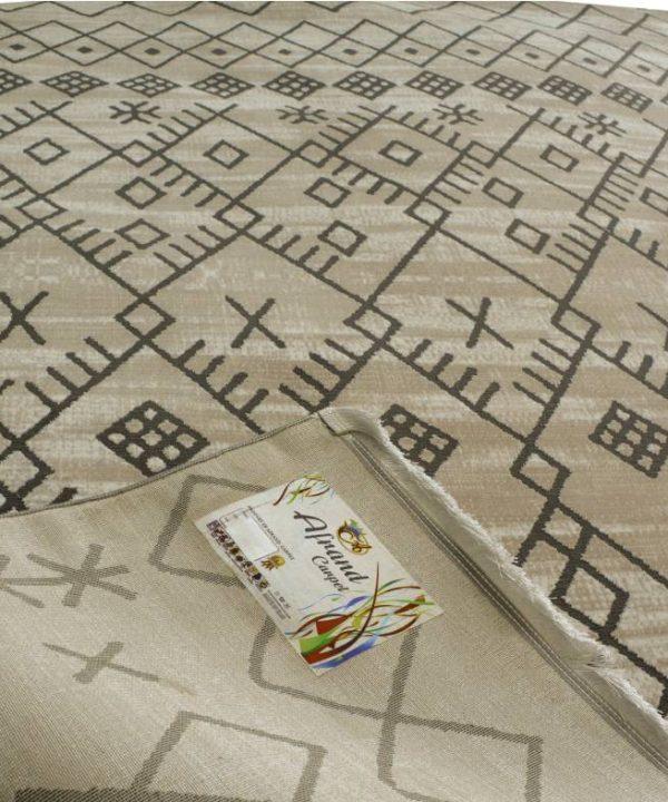 فرش ماشینی افرند 500 شانه گل برجسته طرح مراكشي کد 6630